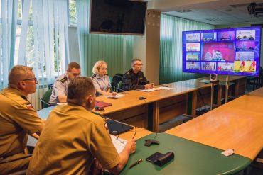 Wideokonferencja z udziałem kadry kierowniczej KG PSP